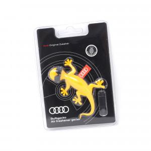 Audi Duftgecko Gelb mit Sonnenbrille Fruchtig Tropisch Lufterfrischer Autoduft Duftbaum Original 000087009AR