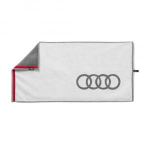 Audi Handtuch 80x150cm Weiß Grau 3131803000 Badetuch Strandlaken Badehandtuch Zubehör
