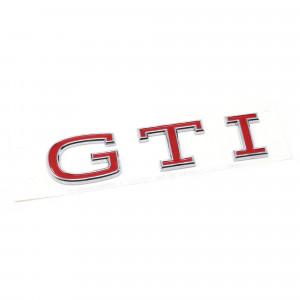 Golf 8 GTI Emblem Chrom Tornadorot Original Schriftzug Heckklappe Hinten Logo Aufkleber