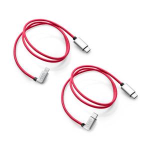 2x Audi Ladekabel USB C auf Apple Lightning & USB C