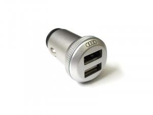 Audi USB Ladeadapter dual 8X0051443 4.8A Auto Kfz Ladegerät Zigarettenanzünder 12V